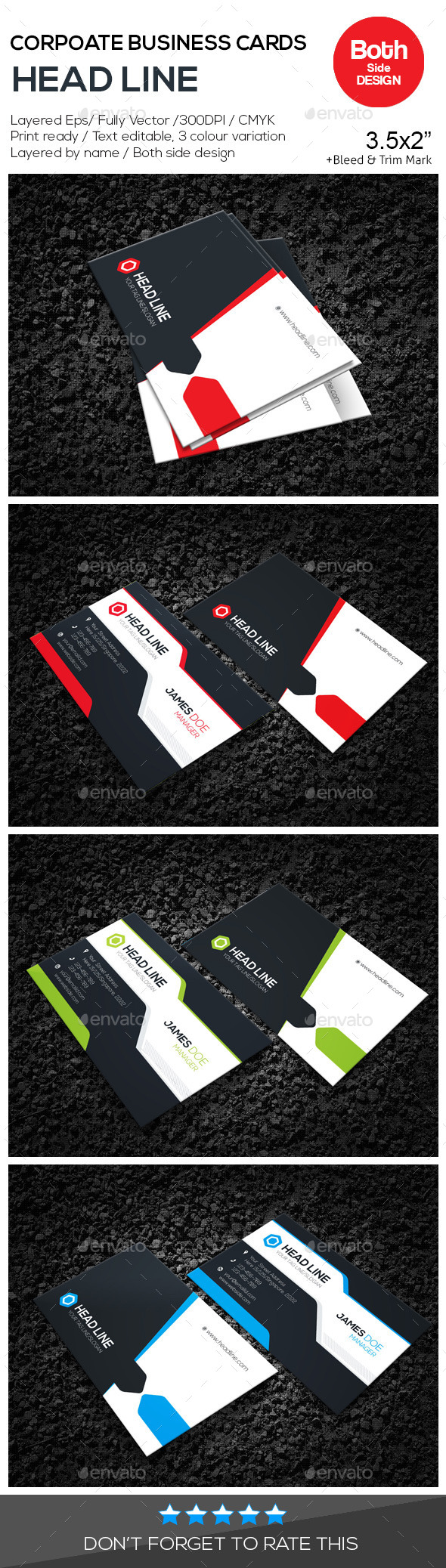 GraphicRiver HEAD LINE Corporate Business Cards 10559640