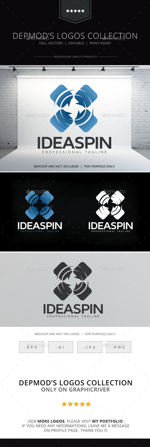 GraphicRiver Idea Spin Logo 10559644