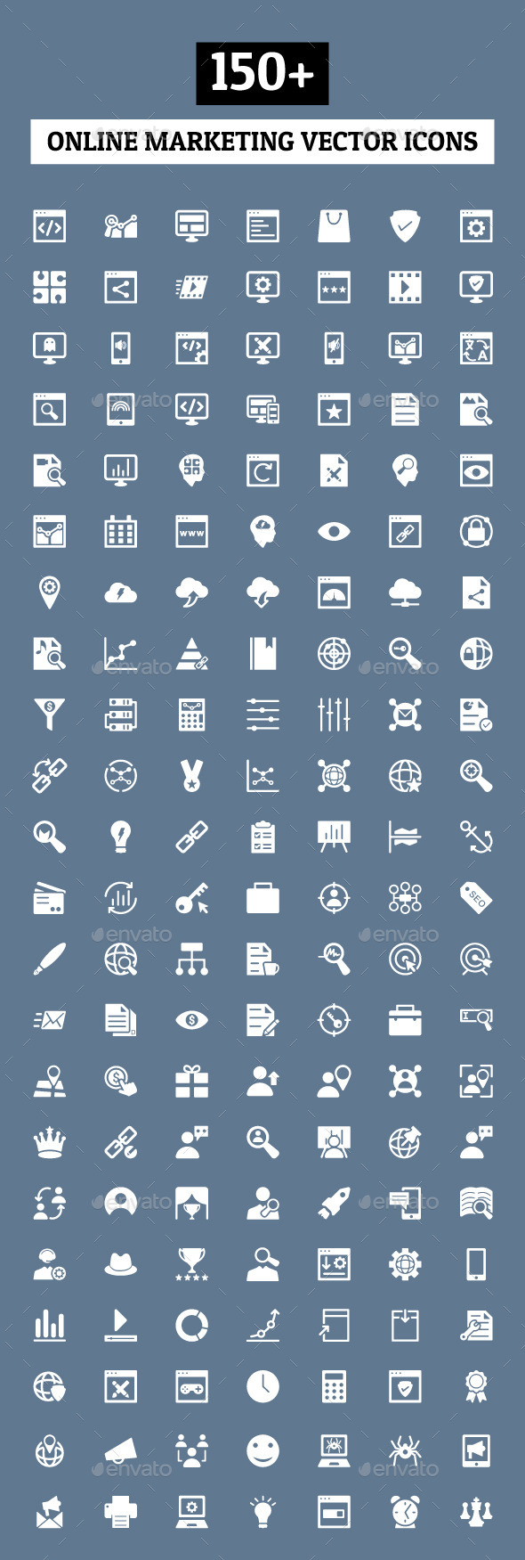GraphicRiver 150& Online Marketing Icons 10559993