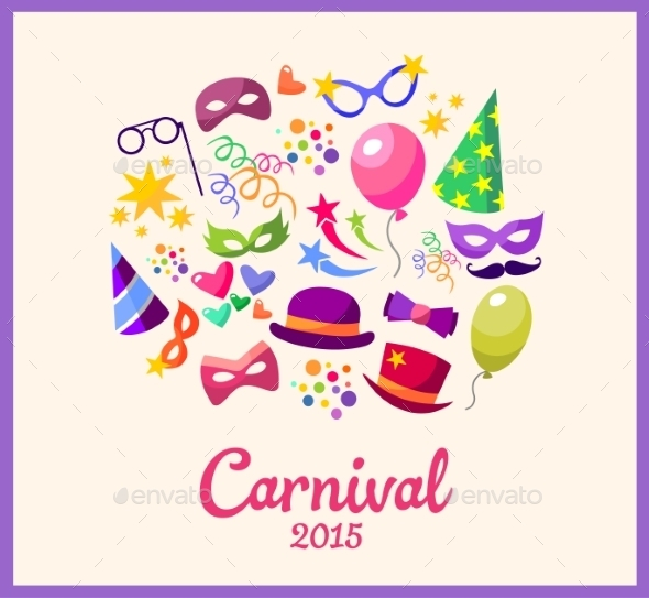 GraphicRiver Festive Banner with Carnival Icons 10560034