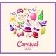 Festive Banner with Carnival Icons - GraphicRiver Item for Sale