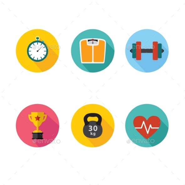GraphicRiver Healthy Lifestyle Icons 10560040