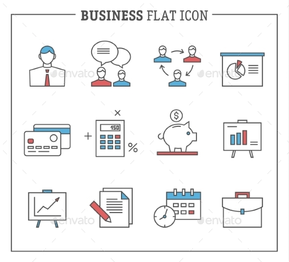 GraphicRiver Business and Finance Icons 10560131
