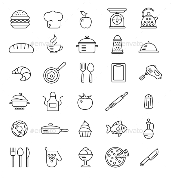 GraphicRiver Cooking Icons 10560134
