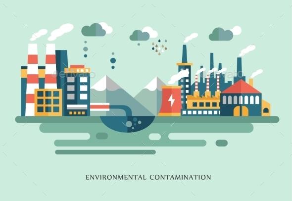 GraphicRiver Pollution Landscape 10560136