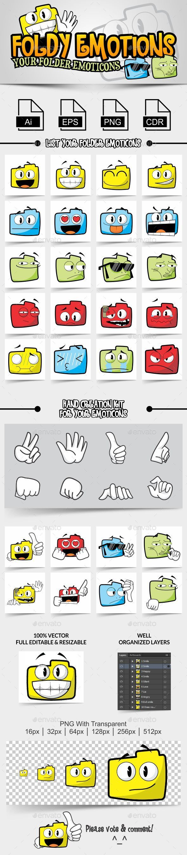 GraphicRiver Foldy Emotions Your Folder Emoticons 10560147
