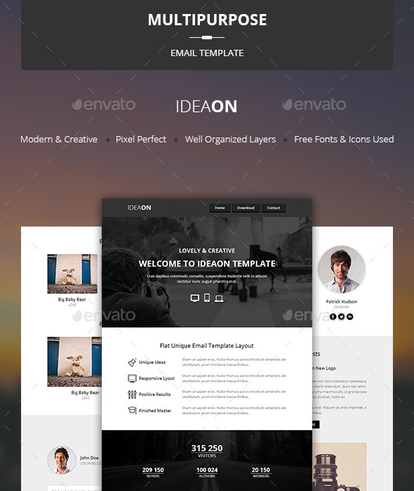 GraphicRiver IdeaOn Multipurpose Email Template 10457362