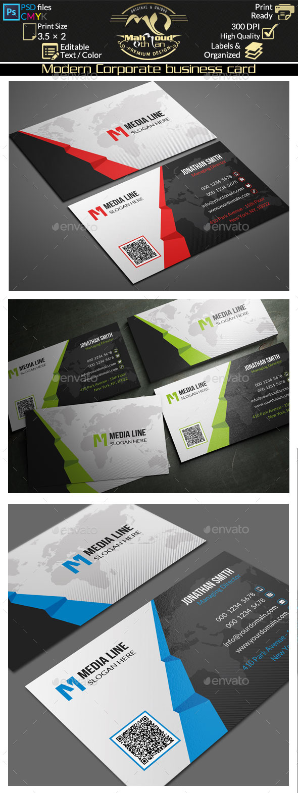 GraphicRiver Modern Corporate Business Card 10560177