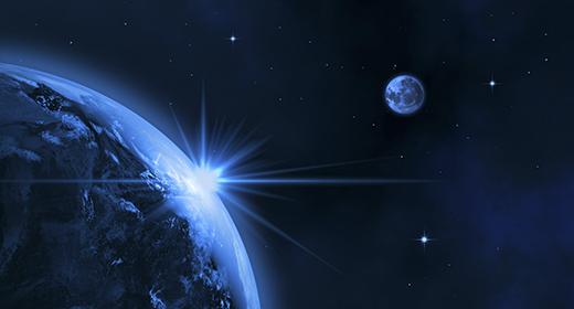 Space (Sun, Earth, Moon, meteorite)