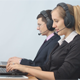Two Call Center Operators Talking With Clients - VideoHive Item for Sale
