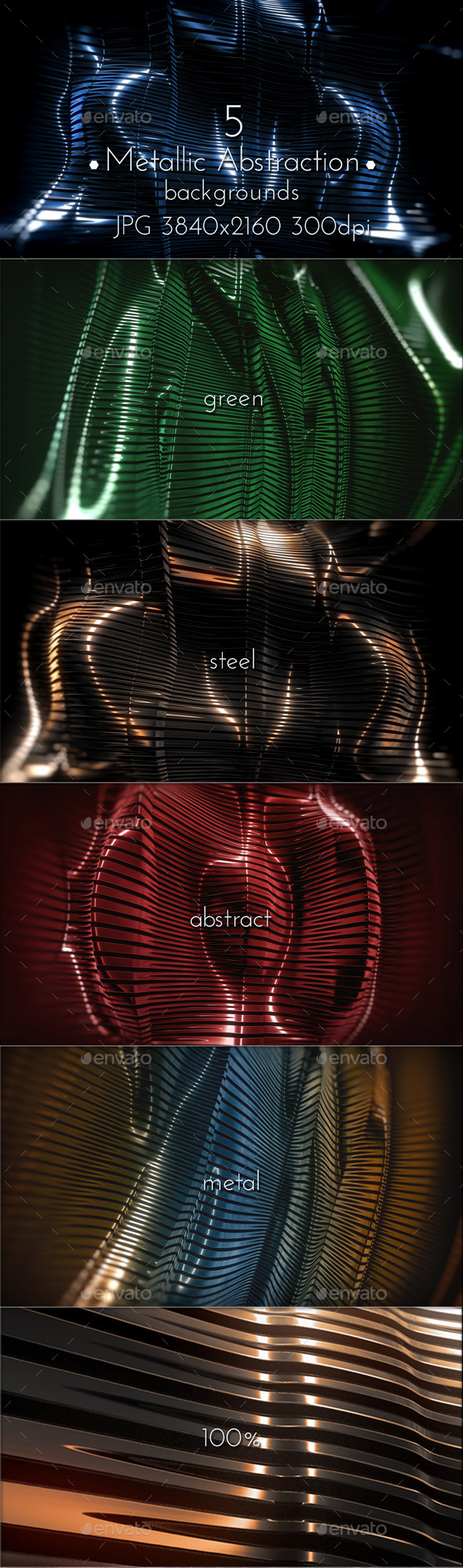 GraphicRiver Metallic Abstraction 3D 10561063