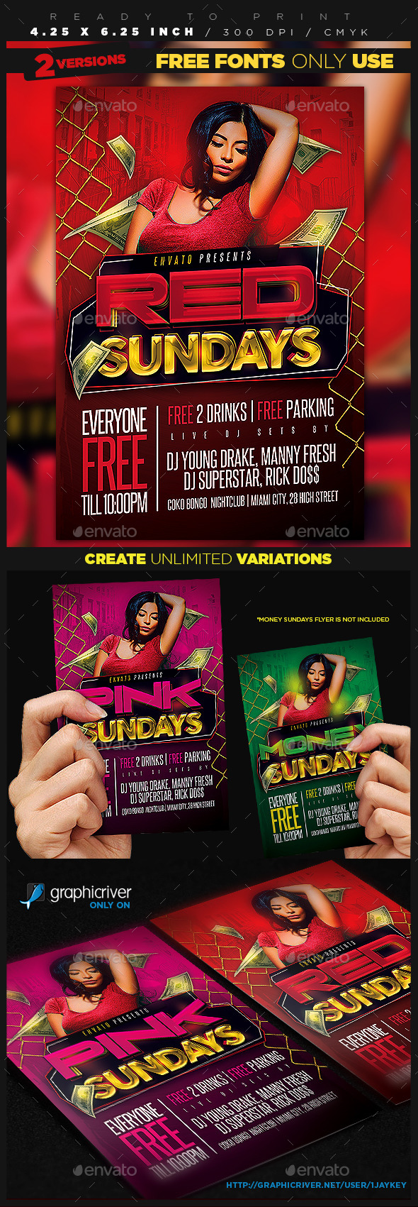 GraphicRiver Color Days Party Flyer 10507629