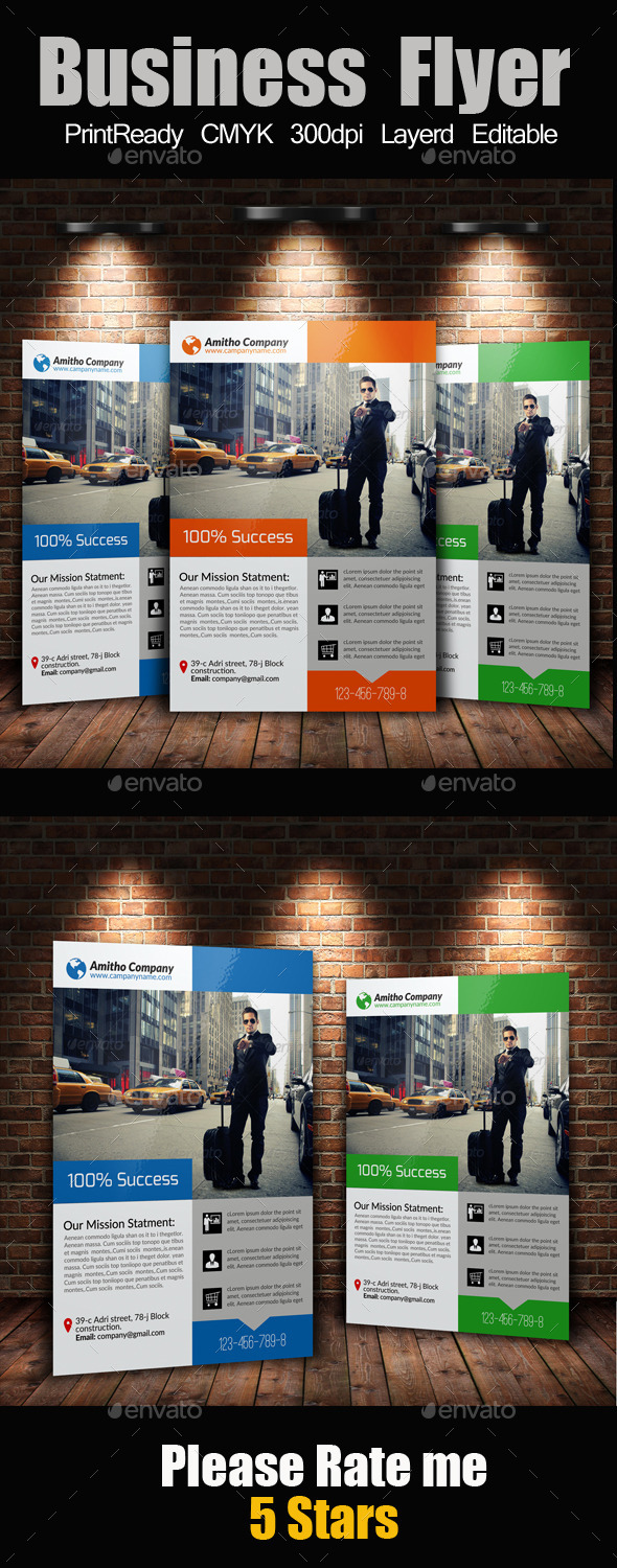 GraphicRiver A4 Business Flyer Template 10561698