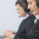 Two Call Center Operators Working in Office - VideoHive Item for Sale