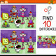 finding differences game cartoon - PhotoDune Item for Sale