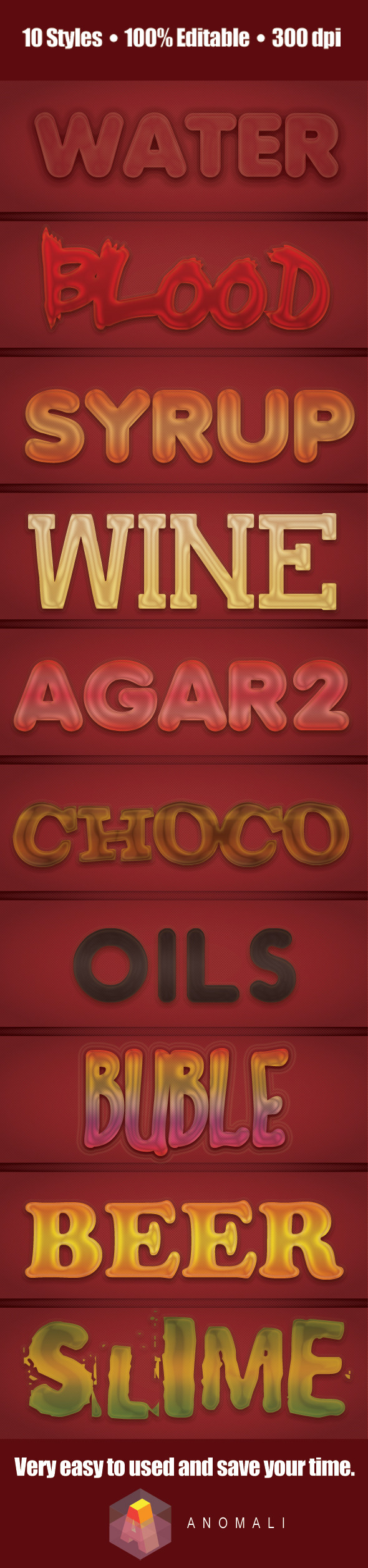 GraphicRiver 10 Liquid & Transparent Text Layer Style 10562297