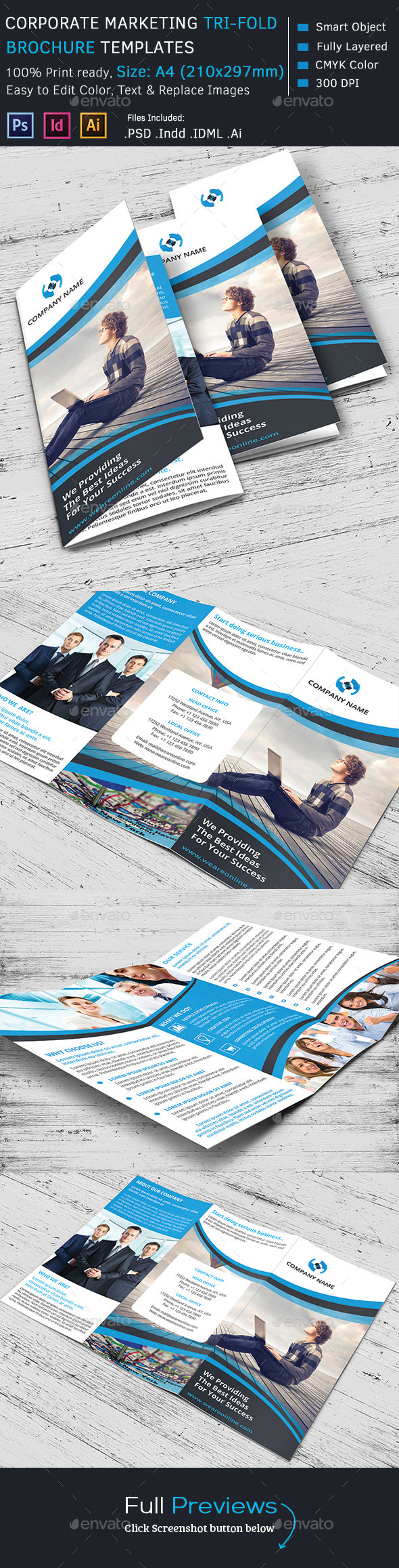 GraphicRiver Corporate Marketing Tri-Fold Brochure 10562381