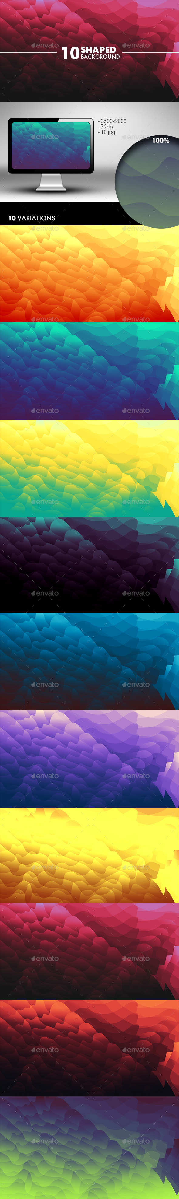GraphicRiver Shaped Wave Background 10562417