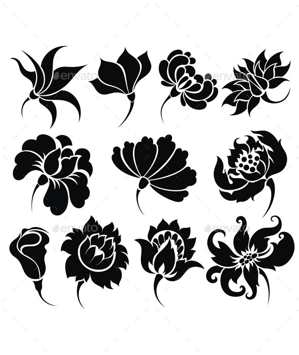 GraphicRiver Flower Icon Set 10562440