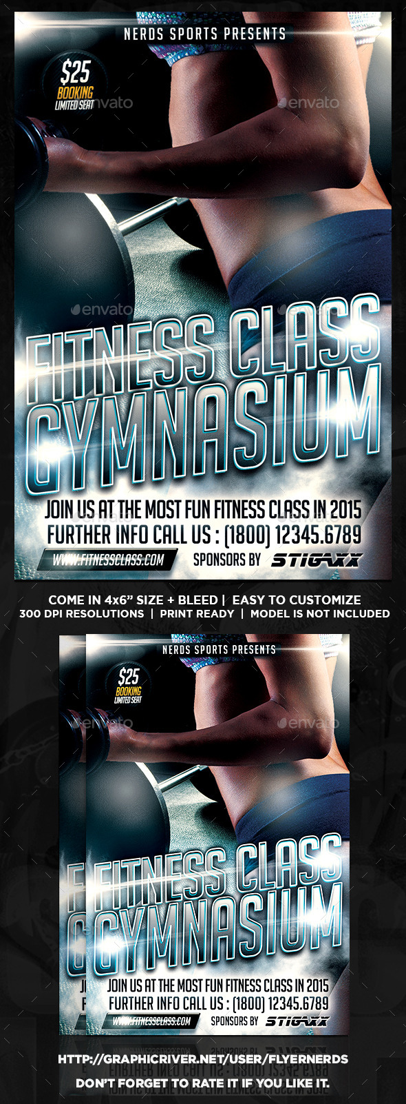 GraphicRiver Fitness Class Sports Flyer 10562495