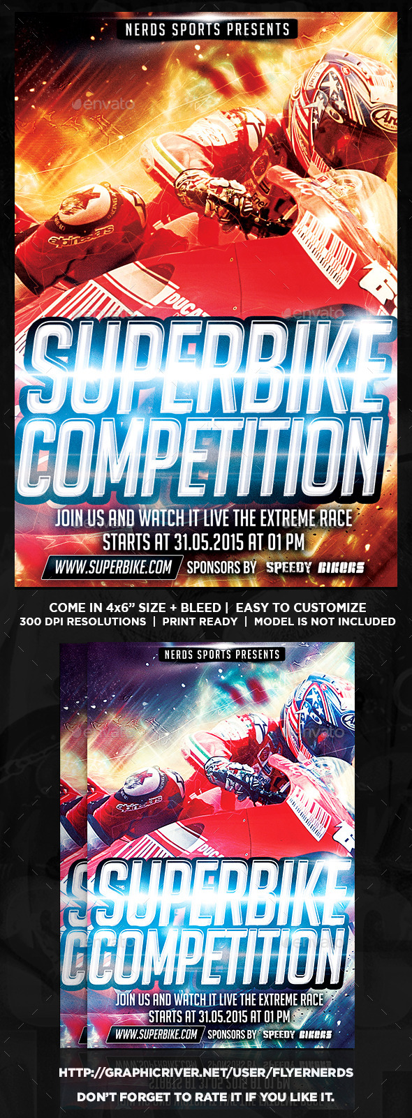 GraphicRiver Superbike 2K15 Sports Flyer 10562505