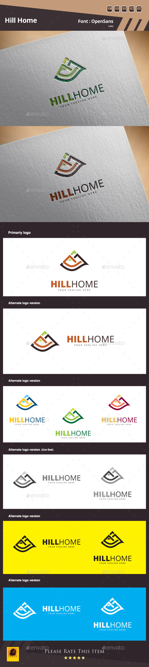 GraphicRiver Hill Home Logo Template 10562527