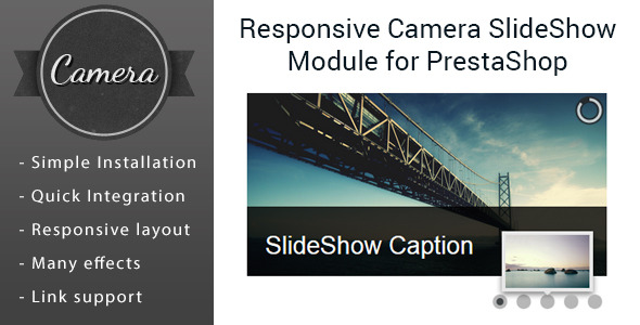CodeCanyon Responsive Camera SlideShow Module for PrestaShop 10562544