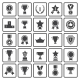 Black Awards Icons - GraphicRiver Item for Sale