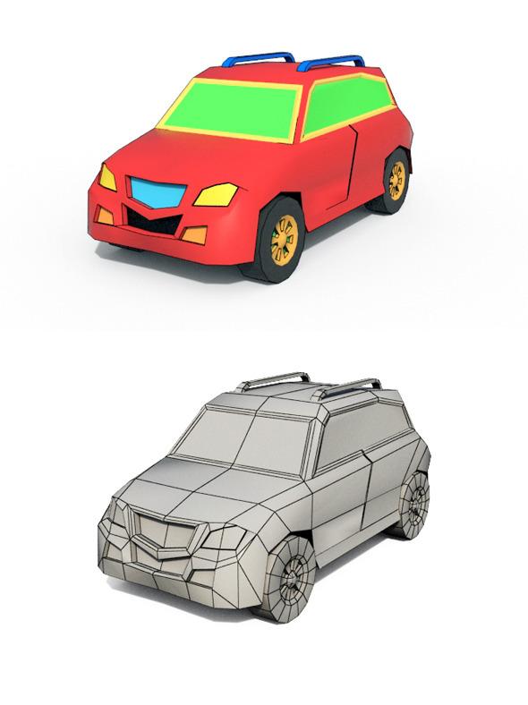 3DOcean Low Poly Cartoon Car 1 10562841