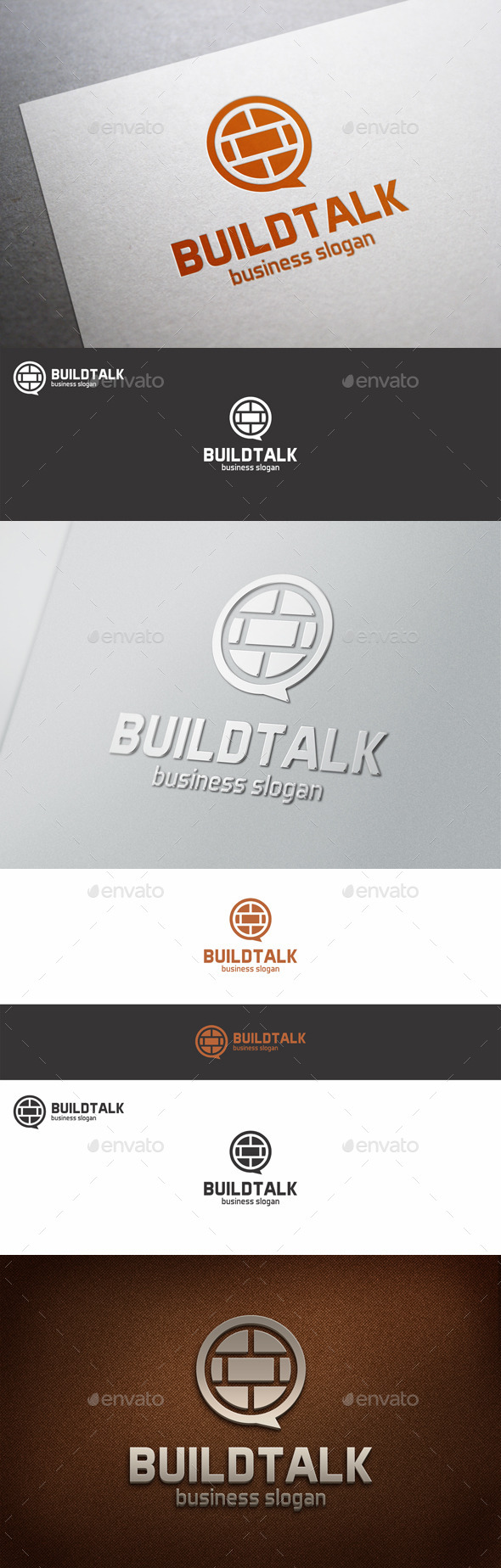 GraphicRiver Build Talk Speak Logo Template 10562983