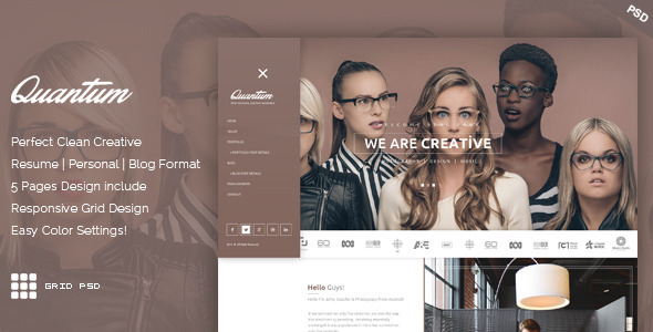 ThemeForest Quantum Personal Multipurpose Design PSD 10527265