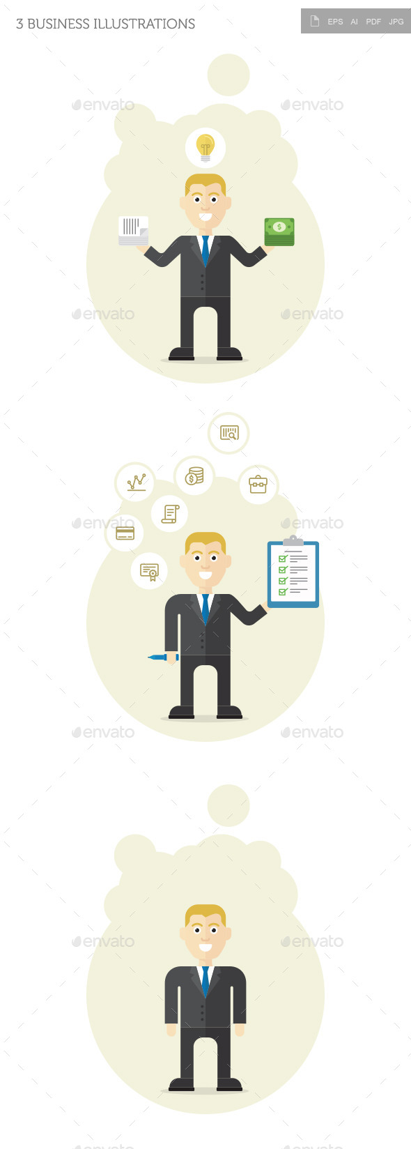 GraphicRiver 3 Business Illustrations 10563039