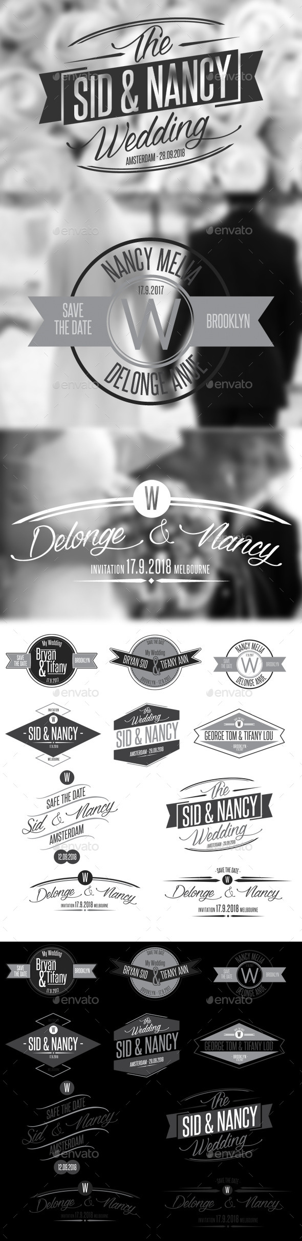 GraphicRiver 10 Wedding Badges 10563040