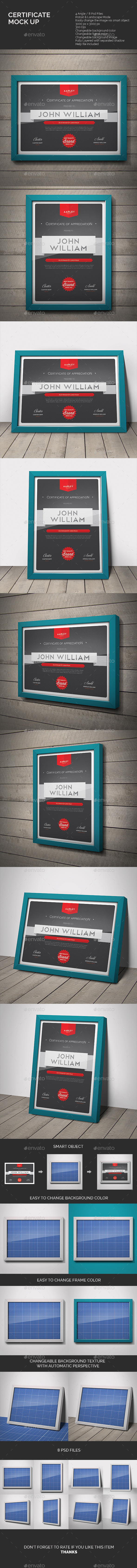 GraphicRiver Certificate Mock-up 10563422