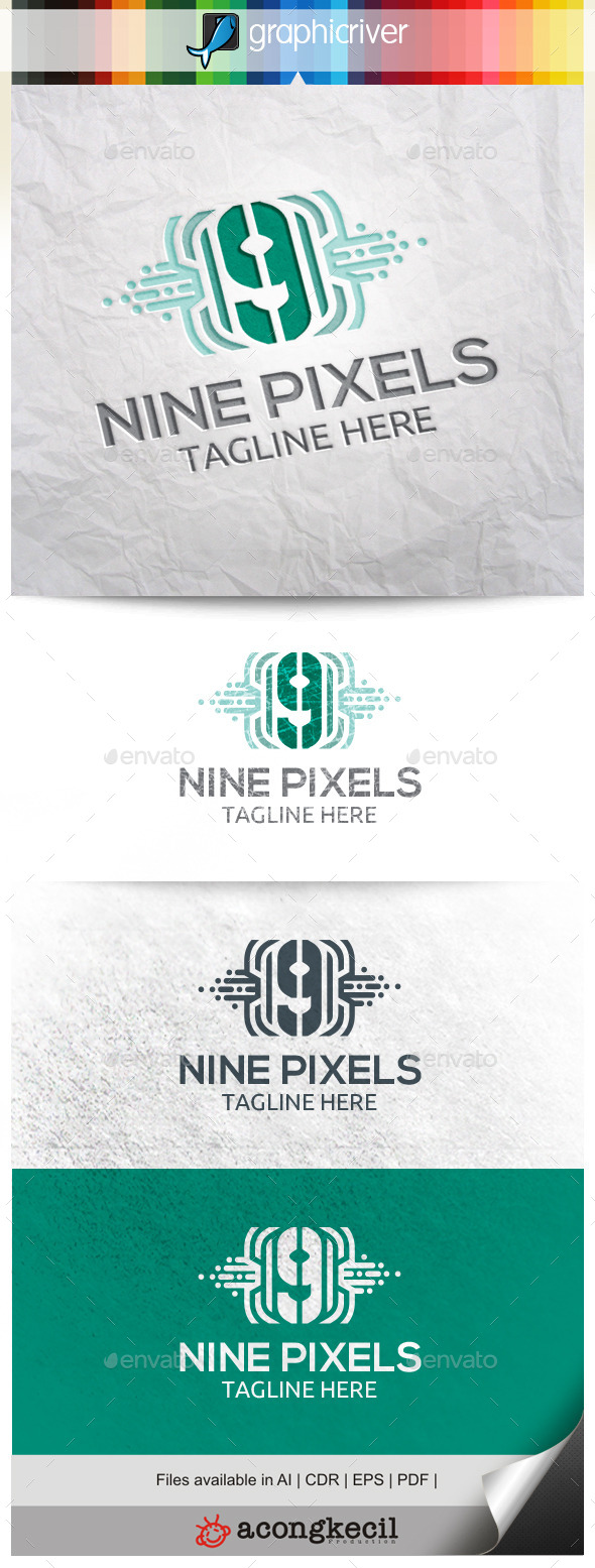 GraphicRiver Number Pixels 9 10563431