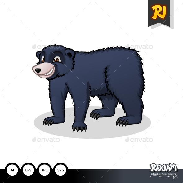 GraphicRiver Black Bear Cartoon 10563740
