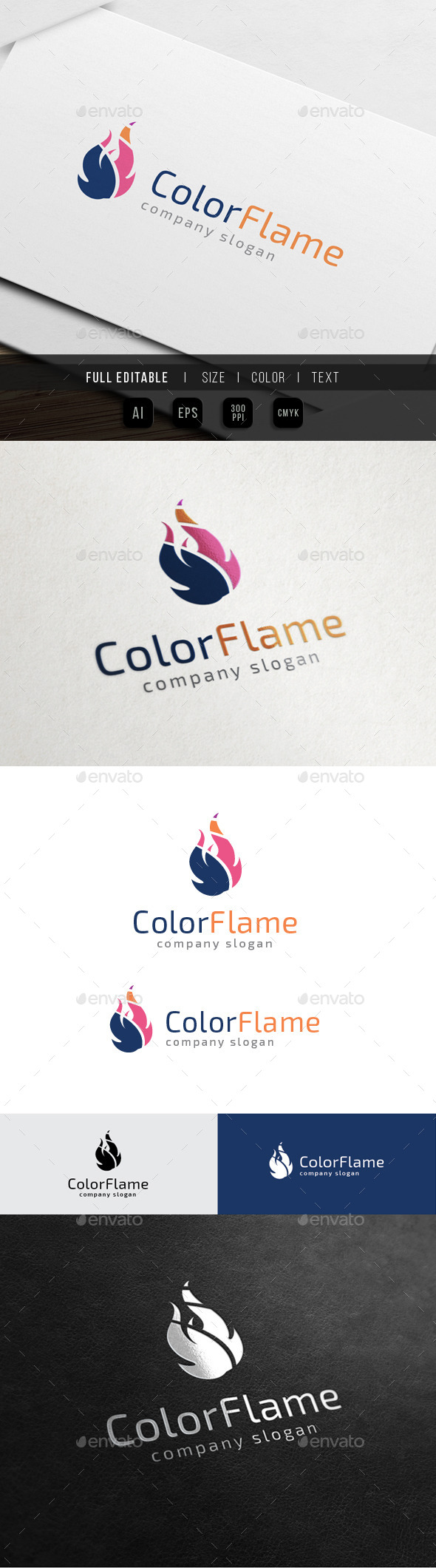 GraphicRiver Color Flame Fire Media 10563745