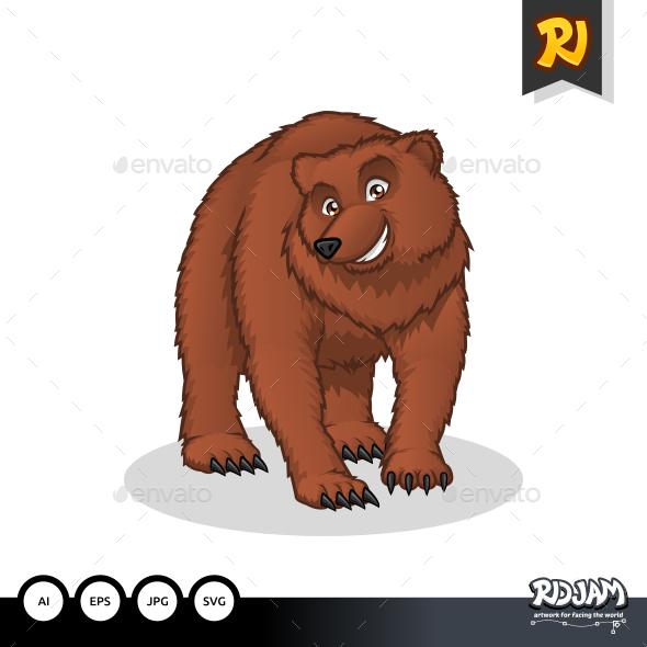 GraphicRiver Brown Bear Cartoon 10563746