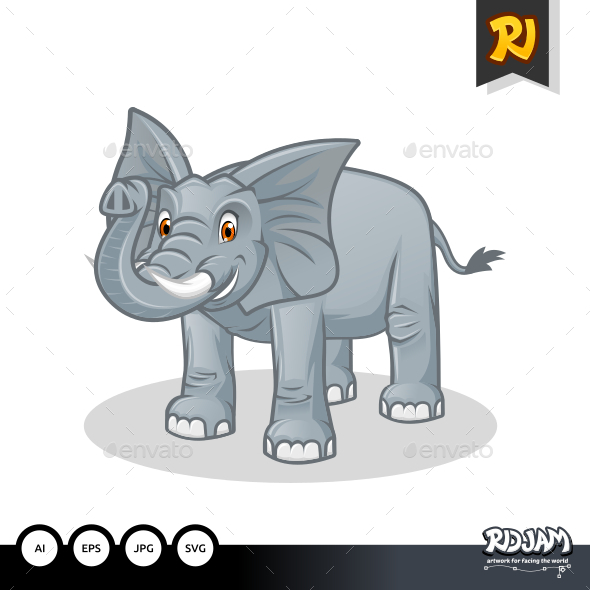GraphicRiver Elephant Cartoon 10563767