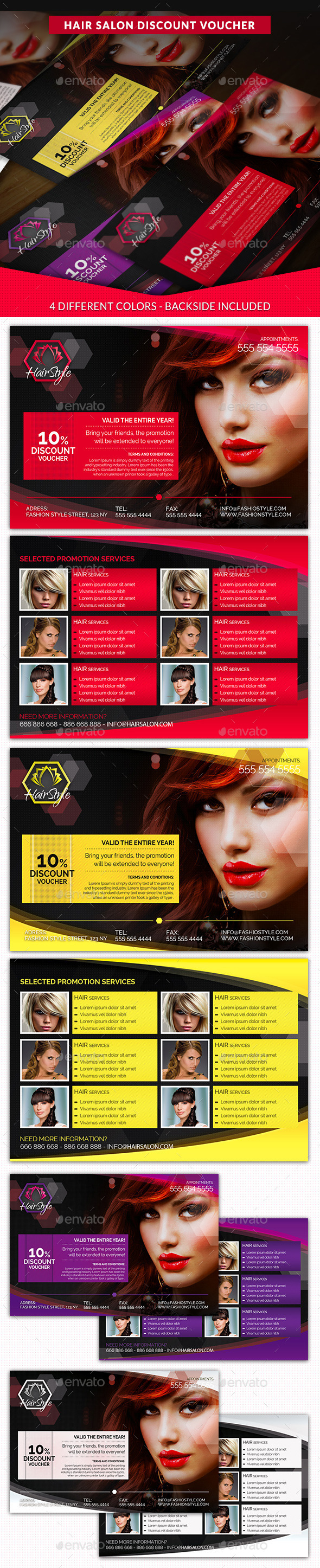 GraphicRiver Hair Salon Fashion Style Discount Voucher 10563772