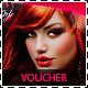 Hair Salon Fashion Style Discount Voucher - GraphicRiver Item for Sale