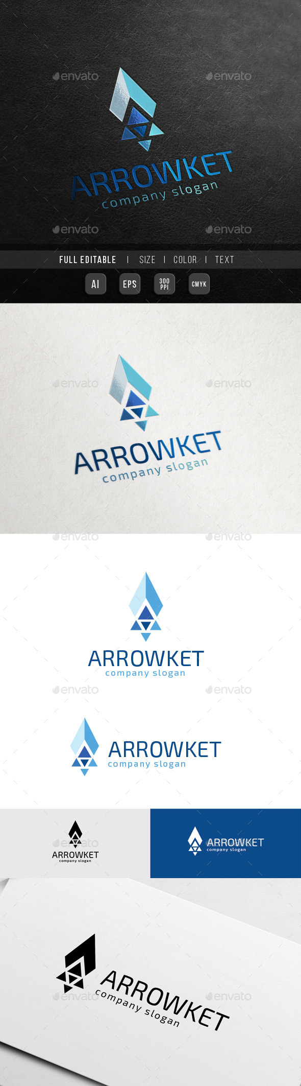 GraphicRiver Arrow Rocket Launch Startup Growth 10563816