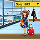 Little Kid Traveling in the Airport - GraphicRiver Item for Sale