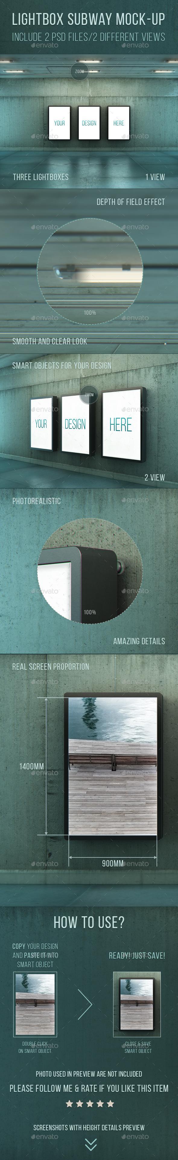 GraphicRiver Lightbox Subway Mockups 10564196