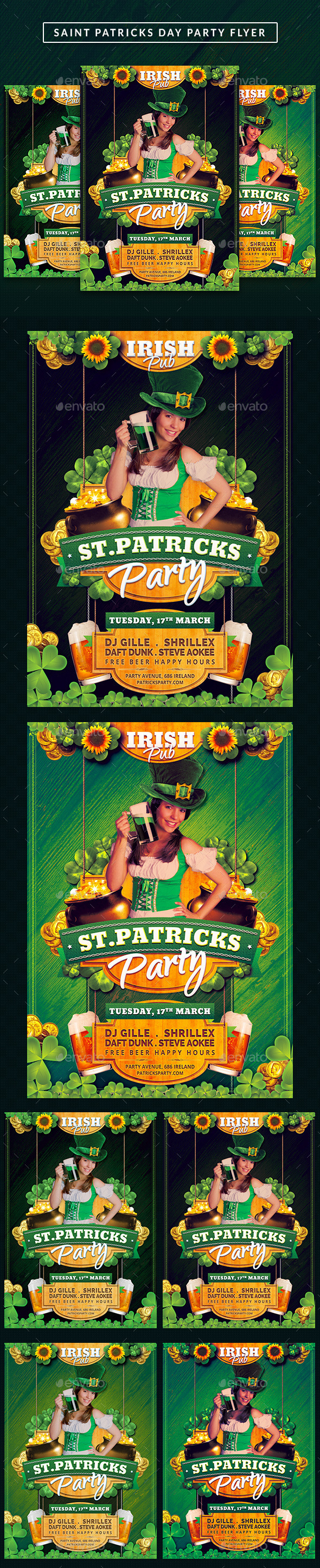 GraphicRiver Saint Patricks Celebration Day Flyer 10564200