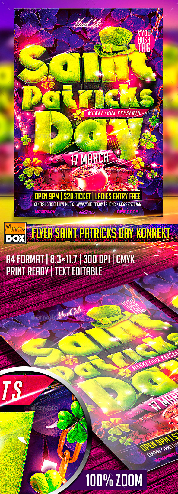 GraphicRiver Flyer Saint Patricks Day Konnekt 10564207