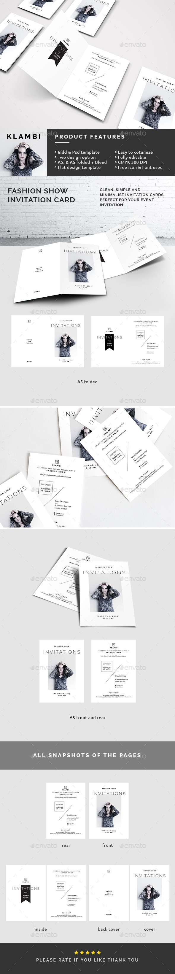 GraphicRiver Fashion Show Invitation Template 10564222