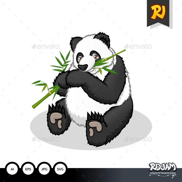 GraphicRiver Giant Panda Cartoon 10564233