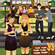 People having a Garden Party  - GraphicRiver Item for Sale