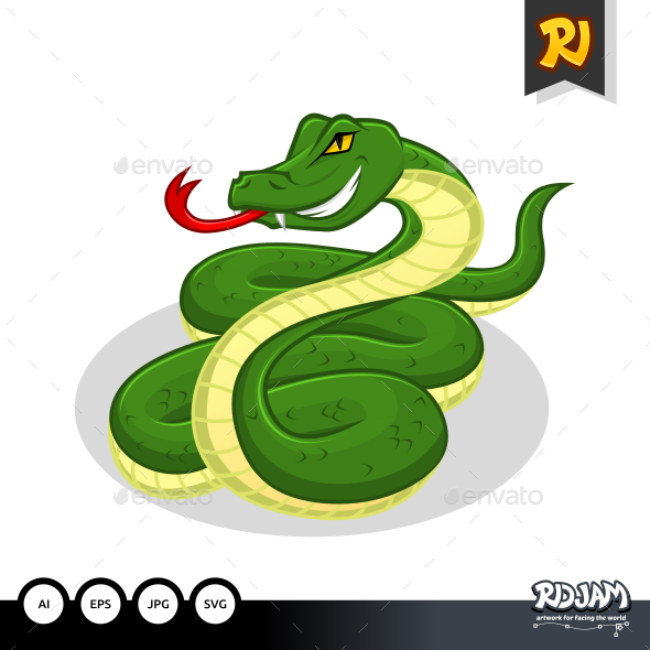 GraphicRiver Snake Cartoon 10564249